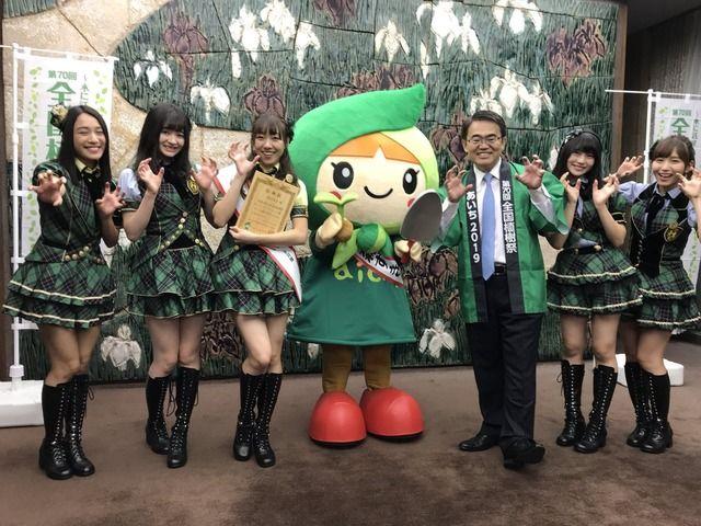 SKE48斉藤真木子、須田亜香里、大場美奈、江籠裕奈、小畑優奈が「チーム森ずきんちゃん」任命式に出席!