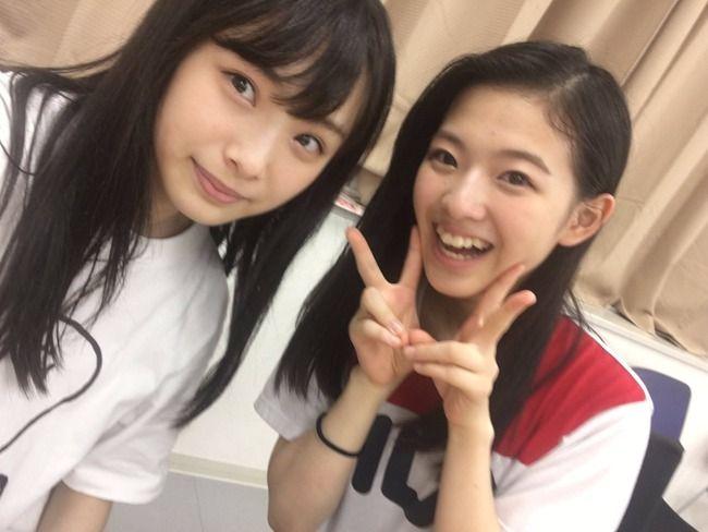 NMB48 梅山恋和と溝川実来の変顔w