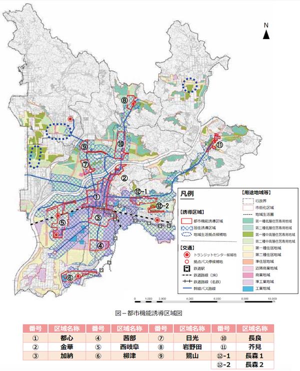 岐阜市の都市機能誘導区域