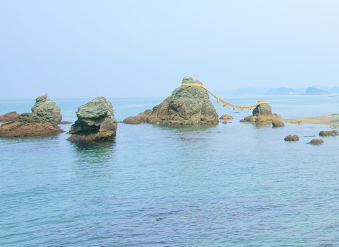 二見興玉神社 岩礁 石庭2