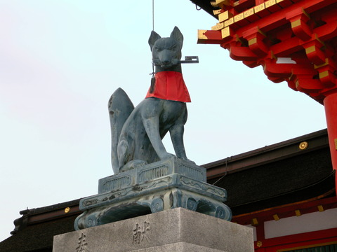 伏見稲荷大社 狐神