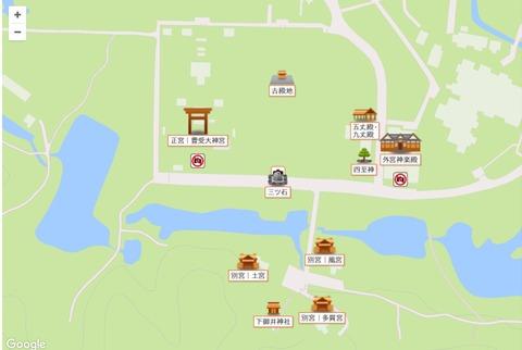 外宮境内マップ