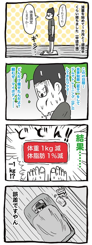 ダイエット生活1カ月半結果報告マンガ