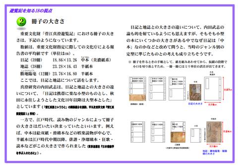 菅江2冊子の大きさ