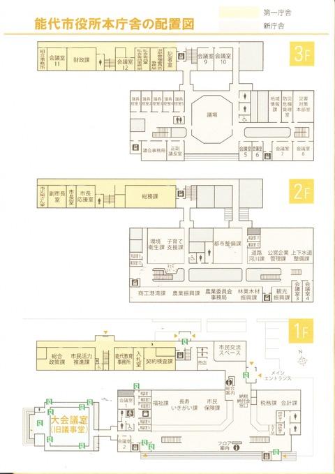 活力課の配置図