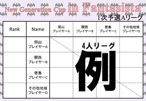 4人リーグ分け(例)