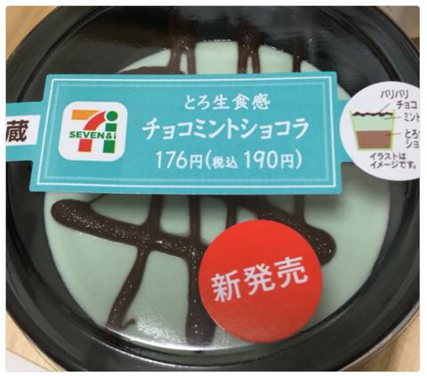 セブンイレブン『とろ生食感チョコミントショコラ』