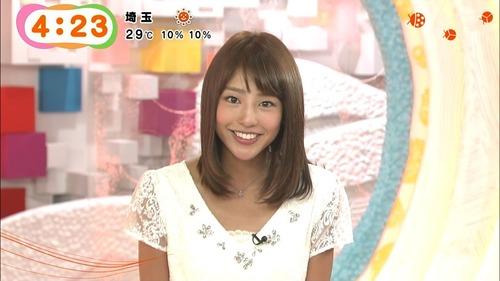 【放送事故】岡副麻希アナ、油断してパンツの中まで映る事故wwwwのサムネイル画像