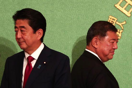 <自民党総裁選>安倍晋三総理が圧勝!.......石破茂は3分の1の270票に届かず惨敗