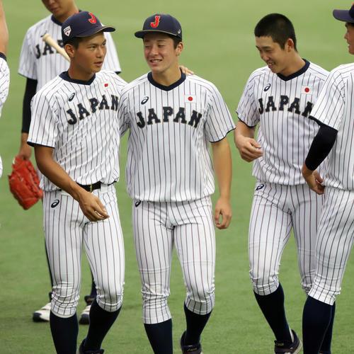 """【U18侍ジャパン!】2試合連続のコールド勝ち!...... """"ノーノーリレー""""完成"""