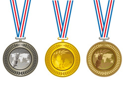 Champion-Cup-And-medals-design-vector-set-01