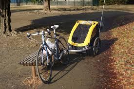 【画像】自転車に子供乗せても倒れない!牽引式チャイルドトレーラーのすすめwwwwwww