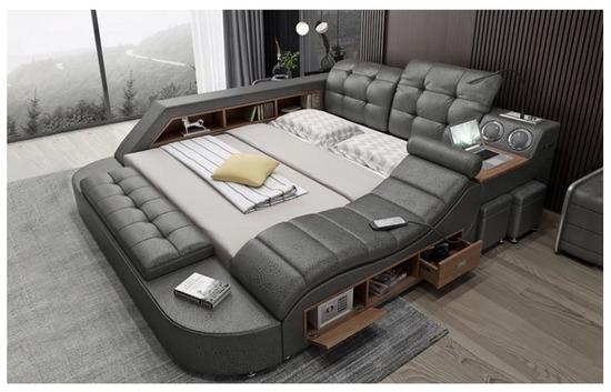【画像】ハイパー多機能ベッド、男なら絶対欲しくなるwww