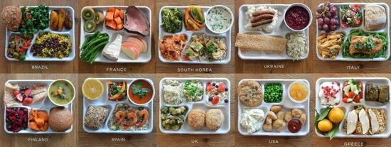 【画像】どの国の昼食を一番食べたい?wwwwwwwww