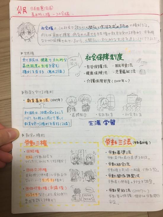 【画像】最近の中学生のノートがコチラwwwwwwwwwww