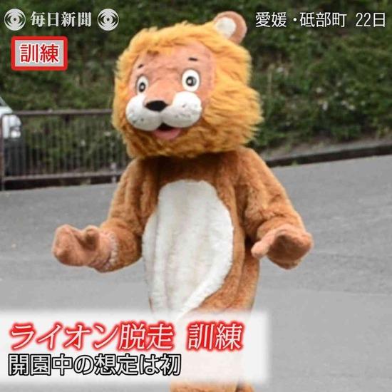 【画像・動画】愛媛・とべ動物園のライオン脱走対策訓練がシュールすぎるwwwww