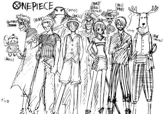 【画像】尾田栄一郎がワンピ連載の2年前に描いた麦わらの一味が開示されるwwwwwww