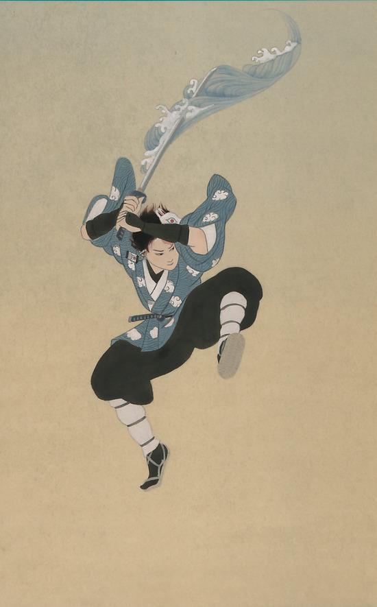 【画像】日本画家が描いた竈門炭次郎がヤバすぎるwwwwwwww