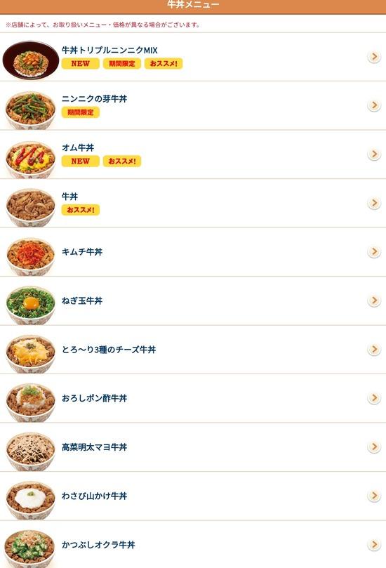 【画像】すき家で一番食べたことある牛丼www
