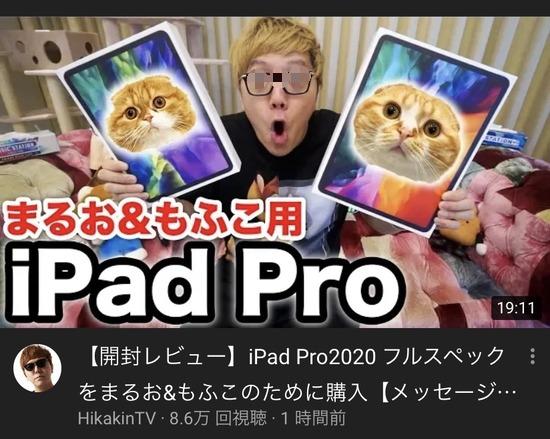 【画像】ヒカキン、飼い猫のためにiPadProフルスペックを2台購入wwwwwwww