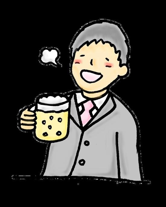 ビール-飲酒-イラスト-素材
