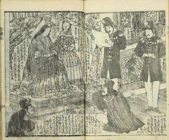 【画像】 江戸時代の日本の絵師が描いた「米国の歴史絵巻」がアメリカで大ウケwwwwww