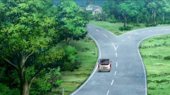 【画像】このアニメの道路がおかしいんだがwwwwww