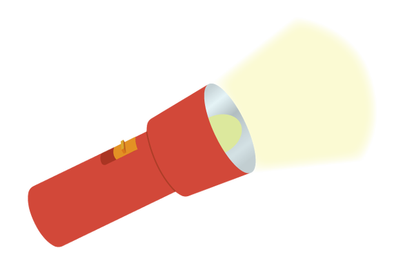懐中電灯の無料イラスト