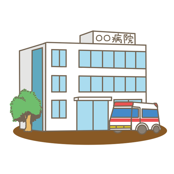 hospital-building-ambulance