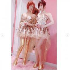 叶姉妹、七夕のゴージャスすぎるドレス姿が反響が続出