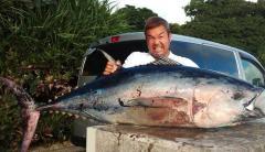 「マグロが海に落ちている」70キロの大物、ドライブの夫婦が発見、素手で生け捕り