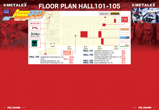 METALEX_2019_FloorPlan_Hall101-105