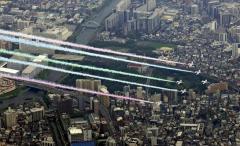 ブルーインパルスのスモーク染料、低空で噴射し車数百台に付着か…空自が賠償検討