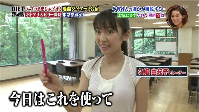 【画像】ダイエット番組でマン肉もろ見えwwww