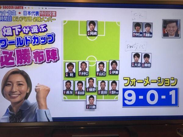 ある女性アナウンサーが選んだ日本代表の布陣が一見メチャクチャそうに見えるんだが・・・