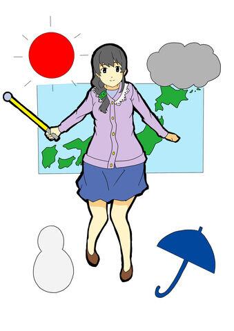 お天気キャスター・阿部華也子ちゃん、朝からニットでバインバインwwww