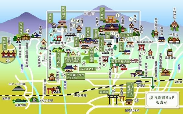 大神神社境内マップ