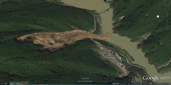 川上村深層崩壊現場