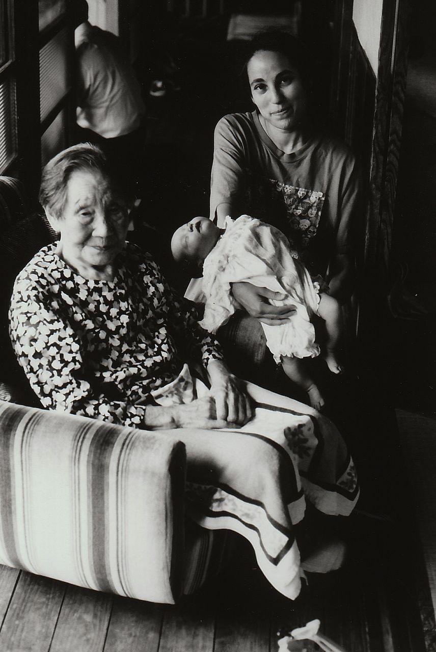 ばあちゃんと万弥とブレットb 6月21日1998年