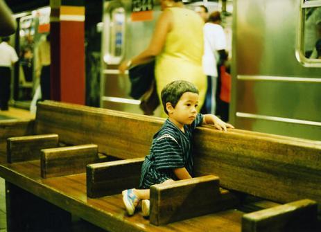 息子と地下鉄