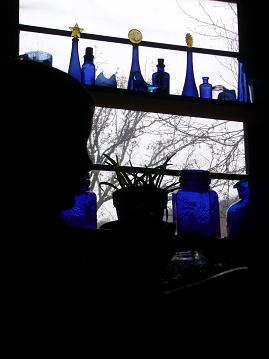 青のグラス
