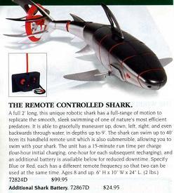 サメ、ラジコン