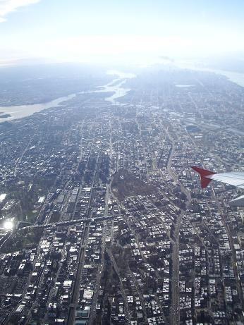 マンハッタン、縦位置、空撮