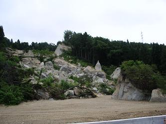 新潟地震現場