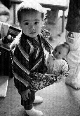 娘1歳、ベービー人形
