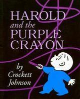 紫のクレヨン