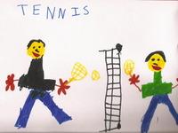 パパとテニス