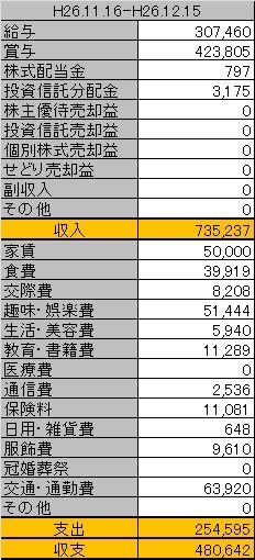 11月の家計管理ヽ( `・ω・´)ノ
