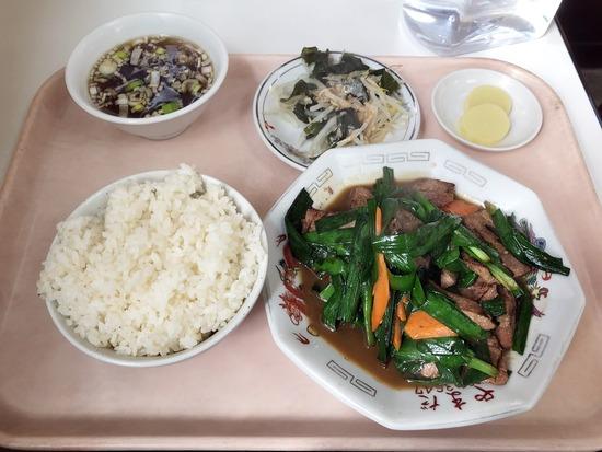ニラレバ炒定食