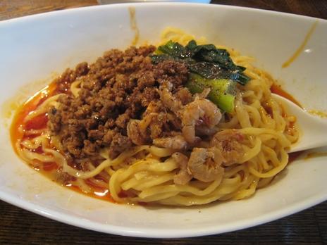 四川坦坦麺阿吽(湯島)三回目つゆ無し坦坦麺